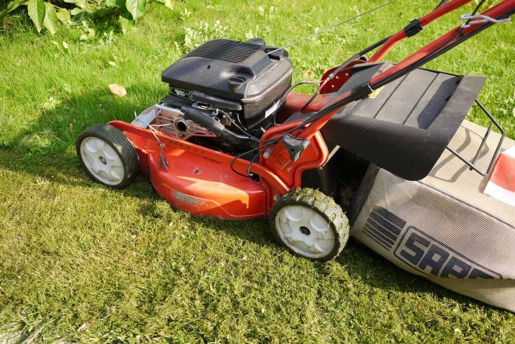 petrol lawnmower to carry out short grass cuts